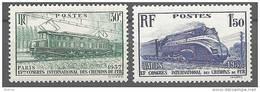 """FR YT 339 & 340 """" Congrès Des Chemins De Fer """" 1937 Neuf* - Unused Stamps"""