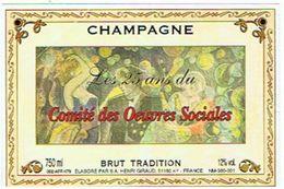 CHAMPAGNE HENRI GIRAUD   AY  25 ANS COMITE OEUVRES SOCIALES  **  RARE  A  SAISIR**** - Champagne