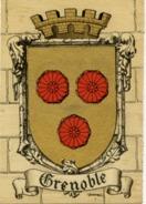 38 GRENOBLE - Armes De La Ville, Blason, Héraldisme, à Plats Or Et Argent - SUPERBE CPSM N° 1322 T Barré-Dayez - Grenoble