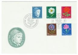 Suisse // Schweiz // Switzerland //  Pro-Juventute  // 1963 Série Complète Sur Lettre 1er Jour - Lettres & Documents