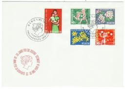 Suisse // Schweiz // Switzerland //  Pro-Juventute  // 1962 Série Complète Sur Lettre 1er Jour - Lettres & Documents
