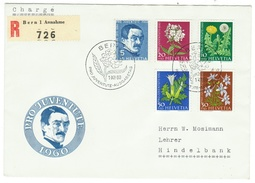 Suisse // Schweiz // Switzerland //  Pro-Juventute  // 1960 Série Complète Sur Lettre 1er Jour - Pro Juventute