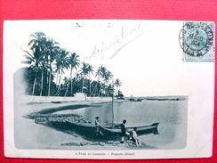 Brésil ,paquetâ ,a Praia Do Lamerâo En 1904......timbres Et Cachets - Brésil
