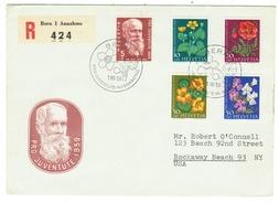 Suisse // Schweiz // Switzerland //  Pro-Juventute  // 1959 Série Complète Sur Lettre 1er Jour - Lettres & Documents