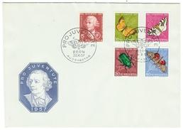 Suisse // Schweiz // Switzerland //  Pro-Juventute  // 1957 Série Complète Sur Lettre 1er Jour - Lettres & Documents