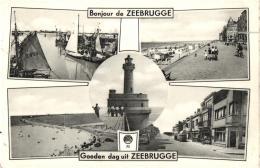 BELGIQUE - FLANDRE OCCIDENTALE - ZEEBRUGGE - Groeten Uit ... - Un Bonjour De .... - Zeebrugge