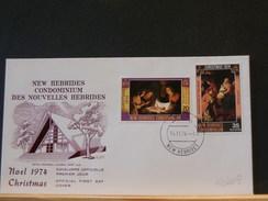 71/009   FDC   NEW HEBRIDES   1974 - English Legend