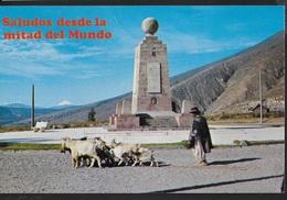 ECUADOR - MONUMENTO ALLA LINEA EQUATORE - VIAGGIATA 1980 FRANCOBOLLO ASPORTATO - Ecuador