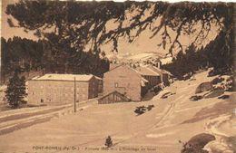 FONT ROMEU  Altitude 1800 M L'Ermitage En Hiver Recto Verso Edit Chauvin Perpîgnan Timbre 50c - Autres Communes