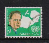 Zambia 2005, UN, Hammarskjold, Minr 1531, Vfu. Cv 3 Euro - Zambie (1965-...)