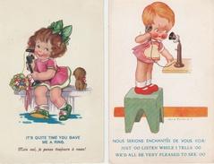 17 / 11 / 299  -2    CP  ENFANTS  AU  TÉLÉPHONE   (  1  SIGNÉE  VERA  PETERSEN ) - Petersen, Hannes