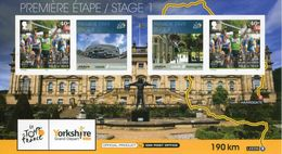 """Entier Postal De 2014 Sur CP Avec Timbre """"Mark Cavendish"""" Et  Illust. """"Tour De France 2014 - 1re Etape Leeds-Harrogate"""" - Ciclismo"""