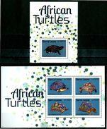 SIERRA LEONE 2013** - Tartarughe / Turtles - Miniblock + Block Di 4 Val. MNH, Come Da Scansione - Turtles