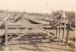 PHOTO FRANÇAISE - LE CIMETIERE MILITAIRE DE MOURMELON LE GRAND PRES DE LIVRY LOUVERCY FEVRIER 1918 - MARNE 1914 1918 - 1914-18