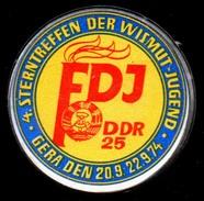 A8768 - Abzeichen Orden - FDJ - Sterntreffen Der Wismut Jugend In Gera 1974 - 25 Jahre DDR - Vereinswesen