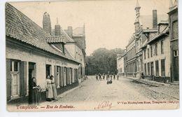 Templeuve-Rue De Roubaix(Café Du Commerce),beaucoup De Personnages -CP Circulé De 1905 - Tournai