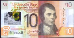 UK Scotland 10 Pounds 2017 UNC Clydesdale Bank Polymer - [ 3] Scotland