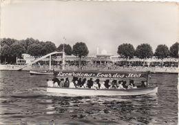 """CPA 78 VILLENNES-MEDAN  La Plage Avec Un Bateau """"Excursions Tour Des Iles"""" - Villennes-sur-Seine"""