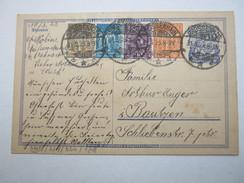 1923 , GROSSENHAIN , Klarer Stempel Auf  Ganzsache - Briefe U. Dokumente