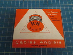 CABLES ANGLAIS Veritable Rareté PAQUET DE CIGARETTES GITANES (vide) Des ANNEES 60 , Tirage Publicitaire à Destination D - Objets Publicitaires