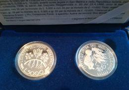 SAN MARINO - NUMISMATICA - 1998 - 5.000+10.000 £ - L'Europa Del III Millennio Dittico FS  - Tiratura 45.000 - San Marino