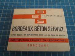 BORDEAUX BETON SERVICE Veritable Rareté PAQUET DE CIGARETTES GITANES (vide) Des ANNEES 60 , Tirage Publicitaire à Destin - Objets Publicitaires