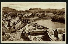 RB 1167 -  Raphael Tuck Postcard - View Drom Caernarvon Castle Toward Mynydd Mawr Wales - Caernarvonshire