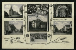 RB 1167 -  Super Early Multiview Postcard - Small Town - Berg Von Nideggen Germany - Other