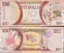 Guyana New 50 Dollars 2015 UNC - Guyana