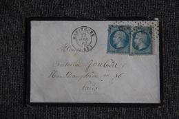 Lettre Envoyée De MARINGUES à PARIS - 1849-1876: Période Classique