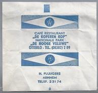 Suikerwikkel.- Embalage De Sucre. OTTERLO. Café Restaurant - DE KOPEREN KOP - Nationale Park - DE HOOGE VELUWE -. - Suiker