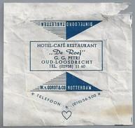 Suikerwikkel.- Embalage De Sucre. OUD LOOSDRECHT. Hotel Café Restaurant - DE ROEF - G.G. Petri. - Suiker