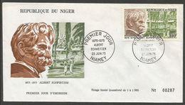 Niger 1975 327 FDC Docteur Albert Schweitzer - Niger (1960-...)