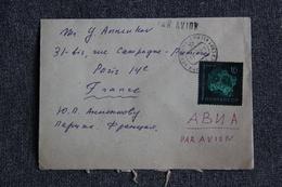 Lettre Envoyée De RUSSIE à PARIS - Machine Stamps (ATM)