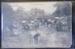 Laos Halte D'une Caravane  Cpa  Raquez - Laos
