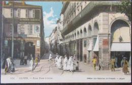 Algérie - Alger N°101 - Rue Bab-Azoun - Carte Couleur Animée - Circulée Le 28 Novembre 1919 - Alger