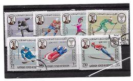 EDY 680 - SOUTH ARABIA SEIYUN 1968 , Sette Valori Tematica Olimpiadi Grenoble . Usati - Inverno1968: Grenoble