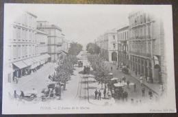 Tunisie - Tunis N°5 - Avenue De La Marine - Belle Animation + Tramway - Carte Précurseur Non-circulée - Tunisia