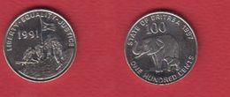 Erythrée --  Km # 48  --  100 Cents 1997 -- état  SUP - Eritrea