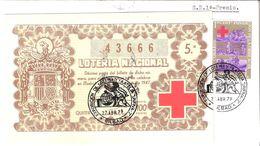 Espagne : Lettre FDC De La Loterie Nationale Au Profit De La Croix Rouge 27/04/1979 - Autres