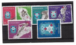EDY 690 - PANAMA , Giochi Olimpici Grenoble 1968 Sei Valori Usati - Inverno1968: Grenoble