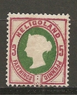 HELGOLAND - Yv.  12  (*) 5pf    TBE   2 Scans - Heligoland