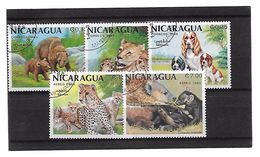 EDY 693 - NICARAGUA 1988 , Cinque Valori Usati  ANIMALI - Nicaragua