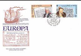 Isle Of Man 1982 Europa: Historical Events, Bookprinting Bishop Thomas Wilson, Thomas Stanley Visit  Mi  213-214 FDC - Isle Of Man