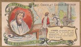 Chromo - Chocolat Guérin Boutron - Les Bienfaiteurs De L'humanité - Strabon - Guérin-Boutron