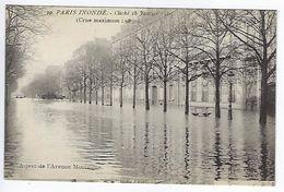 CPA Paris Inondé Aspect De L'Avenue Montaigne N° 39 Noyer - Inondations De 1910