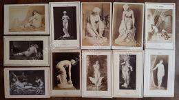11 Grande Photos De Nus Peinture Et Sculptures Vers 1870/80 - Prety Women Courtois Lefebvre Van DYCK Gérome D'Épinay Etc - Reproductions