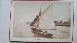 Photo Ancienne DINARD Sur Carton Fort - LE HAVRE - Sortie Du Port Vers 1870/80 - Reproductions