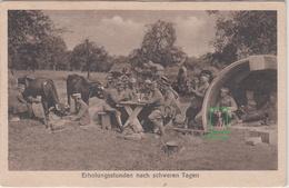 CPA Allemande-Soldats Allemand Régt 235-Détente Soldat Entrain De Traire Une Vache Petit Chien 1917(guerre14-18)2scans - Oorlog 1914-18
