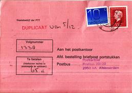 Nederland - Strafportkaart Alblasserdam - P1305 (410.00 - VII - '78) - 2408 - 809632F - Poststempel